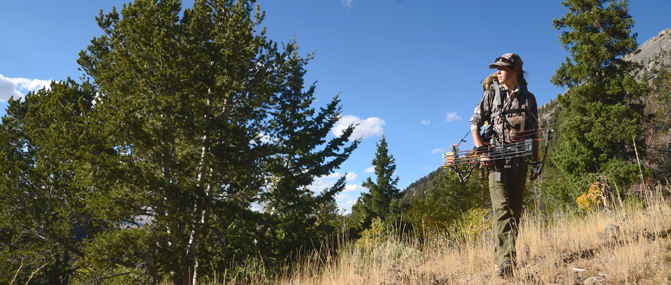 Archery hunter  |  Montana Llama Guides